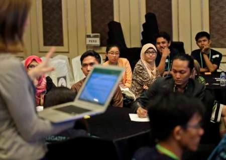 Participants attend a special session for youths during Forests Asia Summit 2014 at ShangriLa Hotel in Jakarta, Indonesia, Monday, May 5, 2014. (CIFOR)