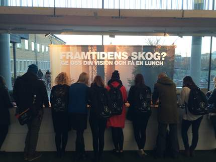 Collecting visions from students in Umeå, Sweden