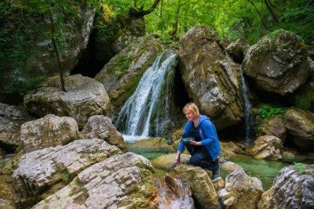Dr. Urša Vilhar conducting forest experiments
