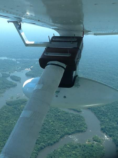 Cessna-mounted fully automated and autonomously working aerial imaging and LIDAR unit