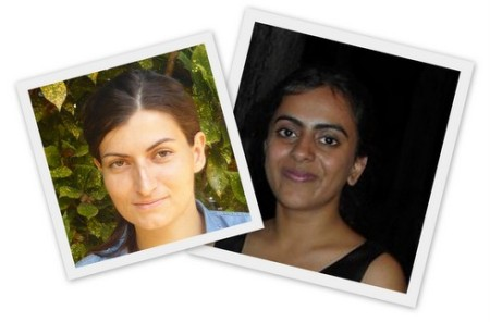Anne-Gaelle Borg (L) and Nikki Chaudhary (R) won the top prizes...