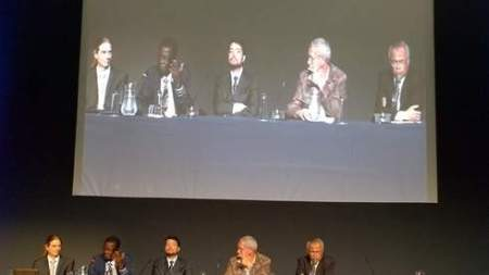 L to R: moderator Stephan A. Pietsch of the International Institute of Applied Systems Analysis; Zac Tjoundjeu; Alexandre Ywata de Carvalho; Coert Geldenhuys; Tachrir Fathoni.
