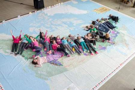 Canadian Boreal Forest Agreement's Giant Map at Play